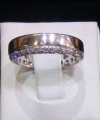 Sterling Silver 35 Cubic Zirconia Ring